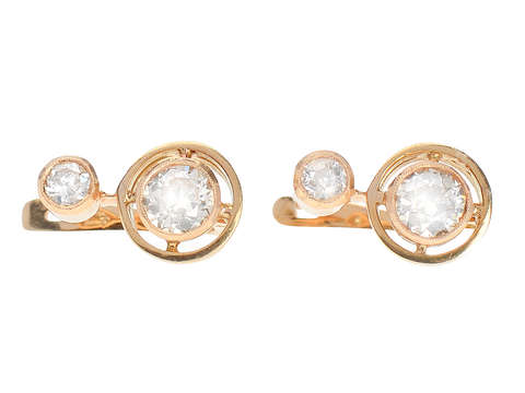 Art Deco Dazzlers - Diamond Set Earrings