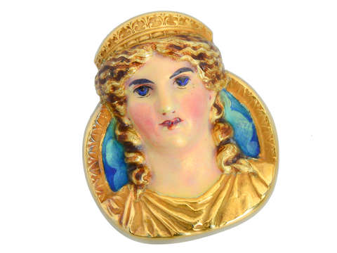 Gods & Goddesses - Dated 1908 Mardi Gras Comus Brooch