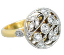 Leaves of Diamonds - Diamond Rondelle Ring