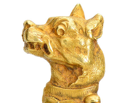 Le Chien - French 18k Gold Dog Stickpin
