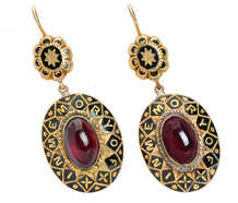 In Tribute - Victorian Garnet In Memory Earrings