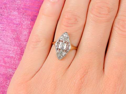 High Style - Vintage Filigree Diamond Ring