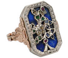 Rare Gem & Diamond Giardinetti Vinaigrette Ring