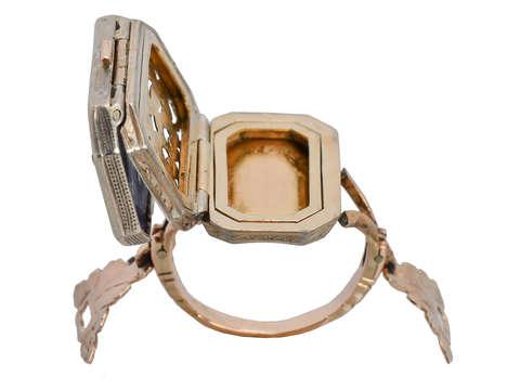 Rare Gem & Diamond Giardinetti Vinaigrette Ring