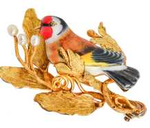 The Goldfinch - Enamel Bird Brooch in Box