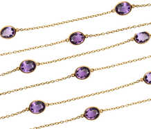 Draped in Gems - Art Deco Amethyst Gold Chain