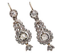Georgian Articulated Rose Cut Diamond Earrings