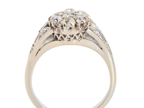 Flower Power - Vintage Diamond Engagement Ring
