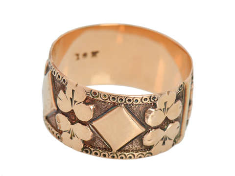Antique Victorian Wide Rose Gold Band