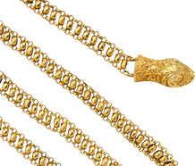 Antique Georgian Gold Chain & Animal Head Clasp