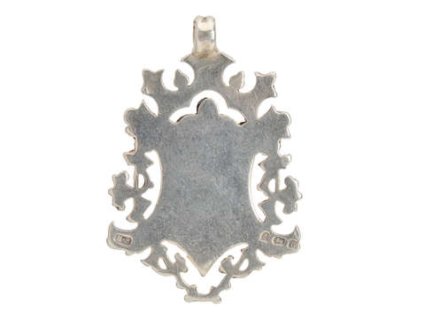 Sterling Silver Rose Gold English Pendant 1900