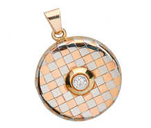 Art Deco Platinum & Rose Gold Diamond Locket