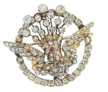 Spread Your Wings - Victorian Diamond Bird Brooch
