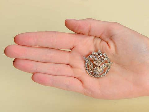 Spread Your Wings - Victorian Diamond Bird Brooch