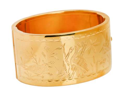 Birds of Paradise - Victorian Bangle Bracelet