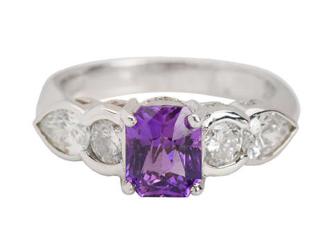 Purple Passion - Sapphire Diamond Ring