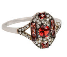 The IT Ring - Garnet Diamond Ring