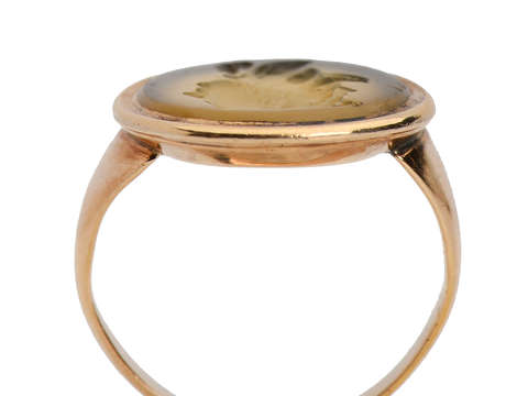 Georgian Hercules Agate Intaglio Gryllus Ring