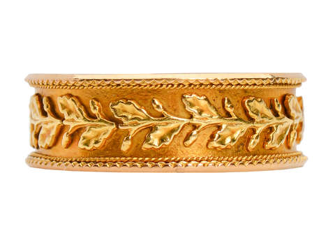 Victorian Ornate Three Color Gold Mizpah Ring