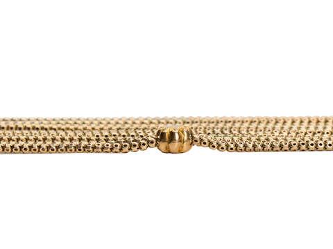 Victorian Fashion - Gold Long Guard Slide Chain