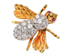 Herbert Rosenthal Diamond Bee Brooch