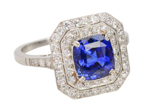 Bluer Than Blue - Exceptional Sapphire Halo Ring