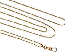 Slinky & Sensuous Antique Gold Long Guard Chain