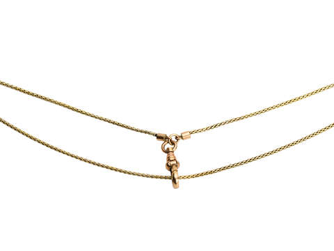 Slinky & Sensuous Antique Gold Long Guard Chain