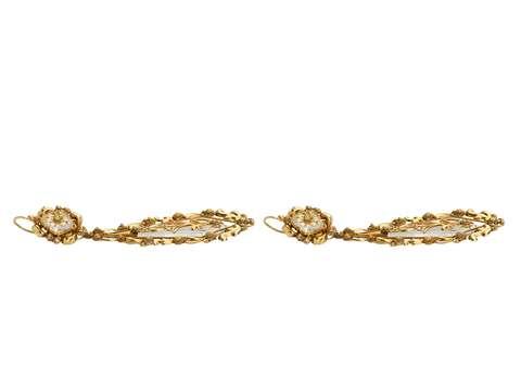 Resplendent Day Night Georgian Gold Earrings