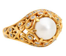 Ocean's One - Cultured Pearl Diamond Ring