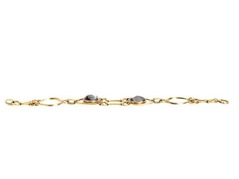 Vintage Essex Crystal Horse & Dog Bracelet