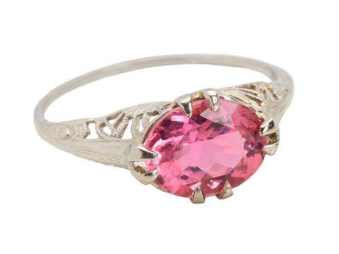 Pink Promise - Vintage Tourmaline Ring