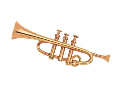 Clarion Call - Gold Trumpet Pendant