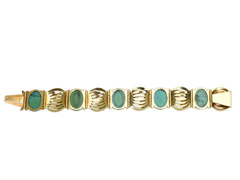 Art Deco Turquoise Enamel Bracelet