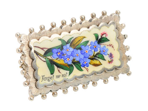 Victorian Forget Me Not Flower brooch