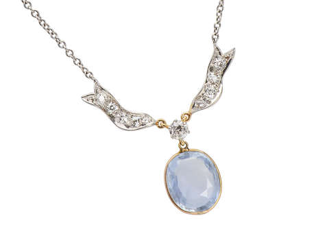 No Heat Color Shift Ceylon Sapphire Necklace