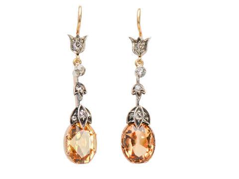 Precious Topaz Diamond Earrings