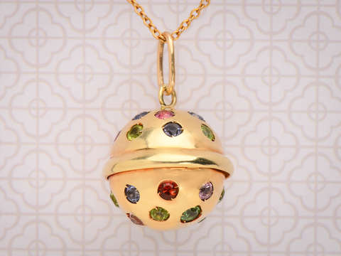 Skylight - Modernist Spherical Gem Set Pendant