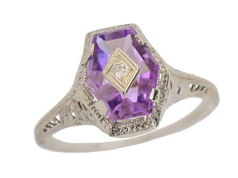 Six Degrees of Separation - Amethyst Ring