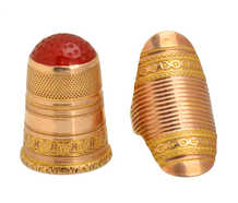 Boxed Georgian Thimble & Ring Guard