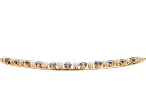 Montana Sapphire Crescent Moon Necklace