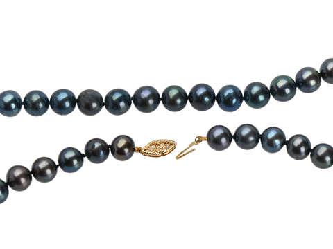 Vintage Black Cultured Pearl Necklace