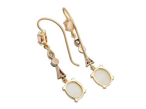 Australian Opal Diamond Earring Medley