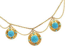 Victorian Pavé Turquoise Locket Necklace