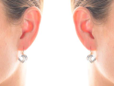 Mid Century Russian Rock Crystal Earrings