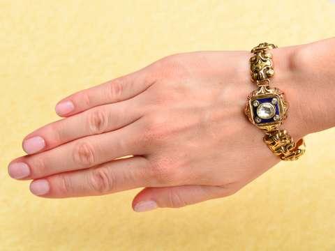 Rose Cut Diamond Austro-Hungarian Bracelet