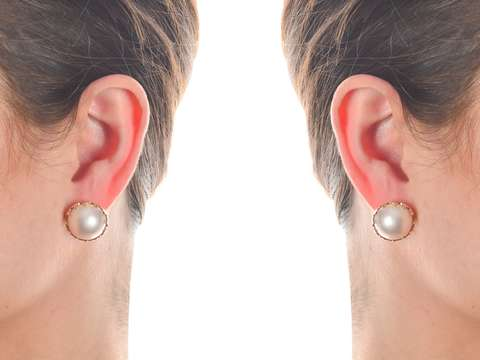 Mabe Moonlight - Pearl Stud Gold Earrings