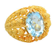 Breath of Spring - Aquamarine 18k Gold Ring