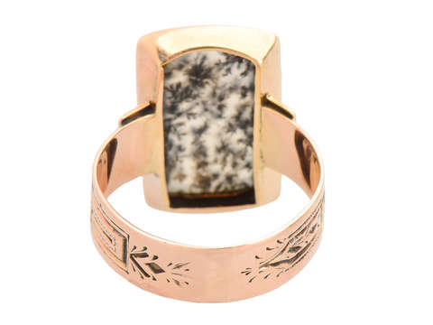 Antique Moss Agate Victorian Ring