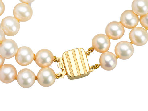 Estate Golden Peach Cultured Pearl Bracelet